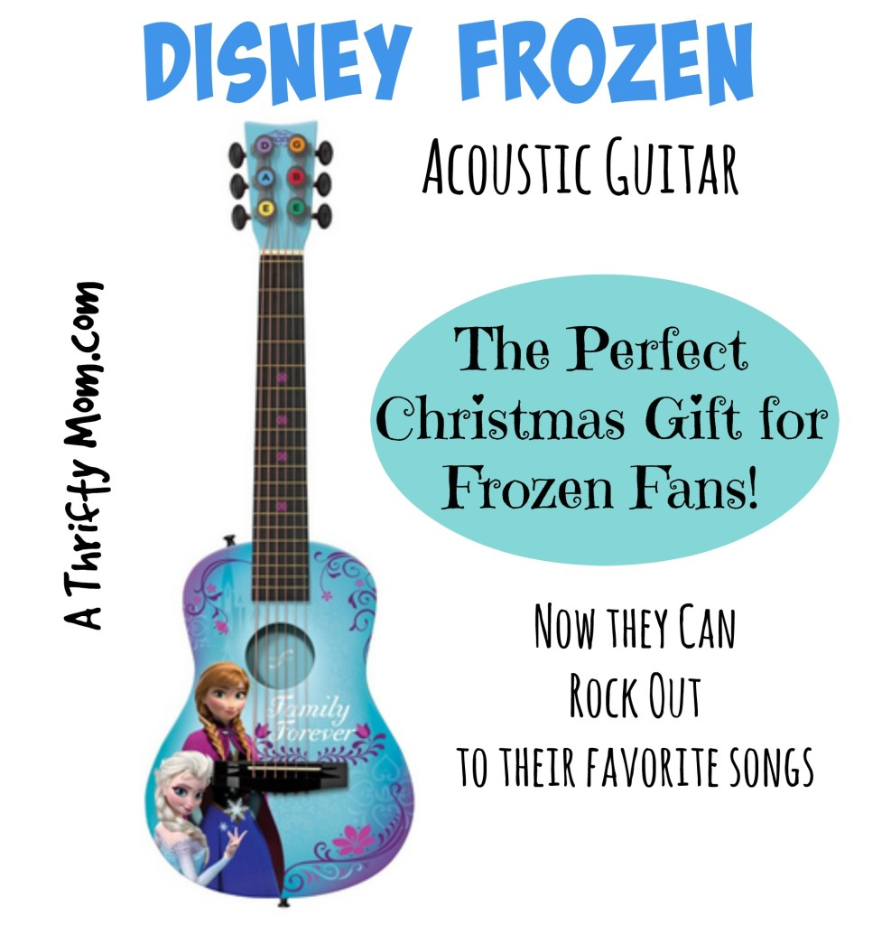 Disney Frozen Acoustic Guitar For Kids - Now they can rock out to their favorite songs! #Frozen #ChristmasGiftForKids