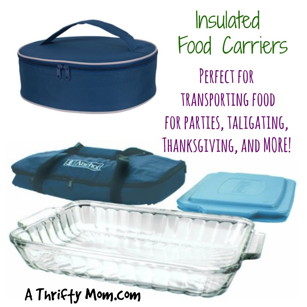 Insulated Food Carriers - Perfect for Transporting Hot Food for Parties, Tailgating, Thanksgiving, and MORE!