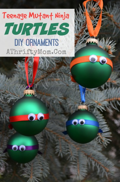Teenage Mutant Ninja Turtles Ornaments DIY Christmas Easy Low Cost Crafts For Kids