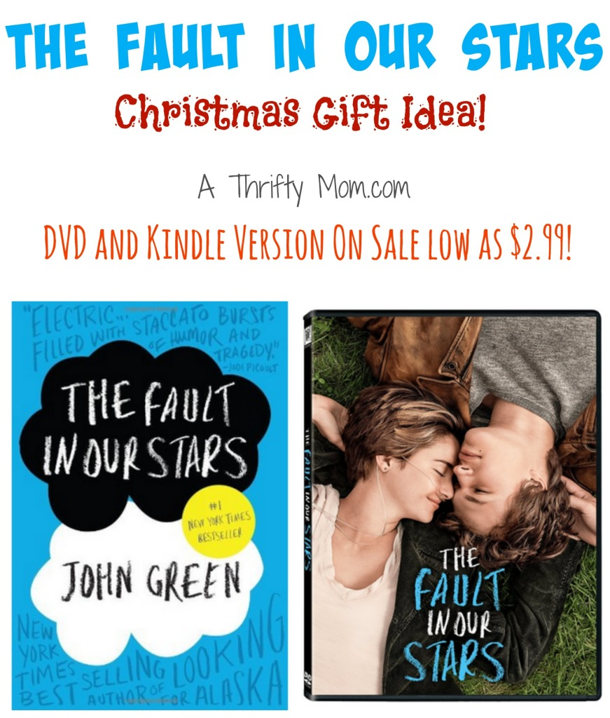 The Fault in Our Stars DVD and Kindle Version On Sale low as $2.99 #ChristmasGiftIdea
