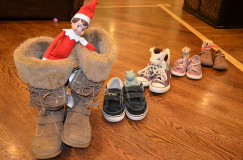 Elf On the Shelf Ideas, Easy Elf On The Shelf Ideas. Shoe train