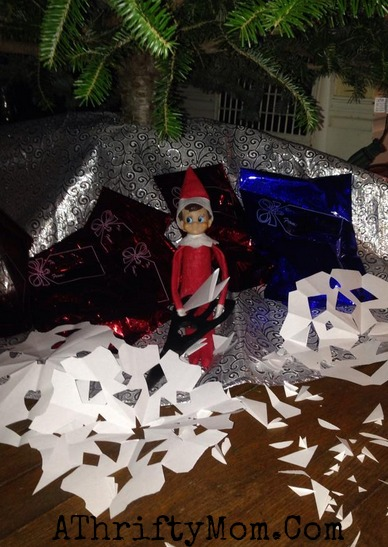 Elf on the Shelf easy ideas, What to do with your Elf, Silly Ideas for your Christmas Elf on the Shelf day 14 .jpf