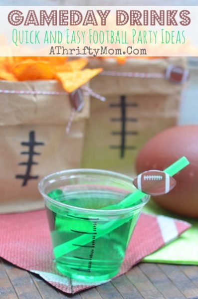 Football Superbowl party ideas,  Gameday Drinks , low cost and easy ways to decorate for game day, Football Food, Game day recipes made easy and budget freindly