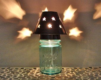 Mason jar table top lamp kit