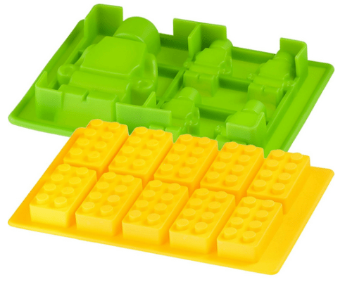 Mega Brick Silicone Candy Mold-Ice Cube Tray - Lego Figures and Bricks