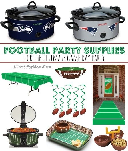 New England Patriots vs Seattle Seahawks GAME DAY party supplies, FOOTBALL Party for the ulimate football party, Superbowl, NFL