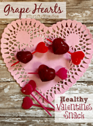 Valentines Healthy Treats, Grape Hearts, quick and easy to make perfect for school parties, Healthy Snacks, DIY
