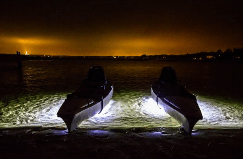 led lights underwater kayak