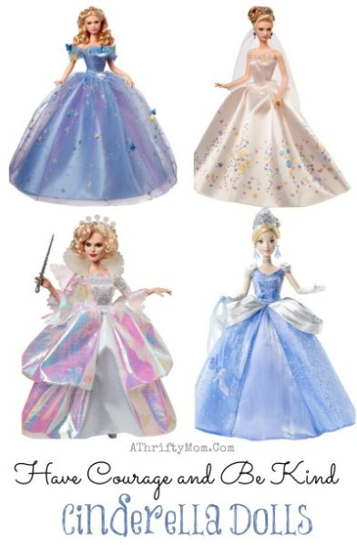 Have Courage and Be Kind, , Cinderella Disney dolls  2015, Cinerella themed party ideas