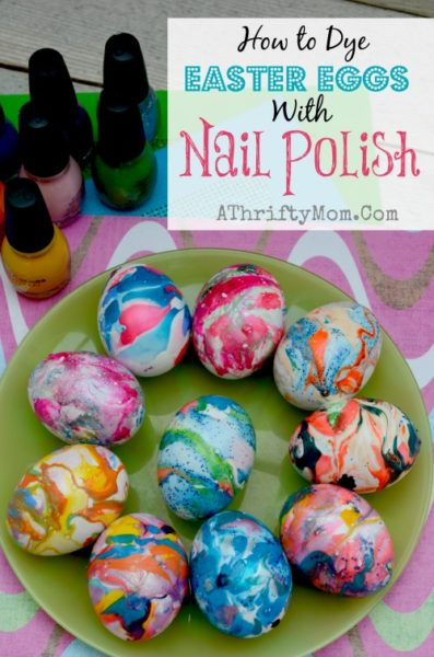 how to dye easter eggs with nail polish and water