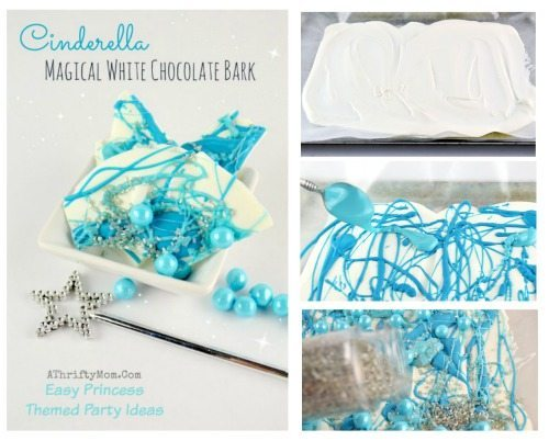 Cinderella Party Ideas, Princess Bark, Have Courage and be Kind, Recipe DIY ideas for Disney Princess themed Birthday Party treat ideas