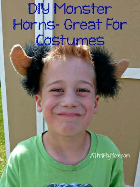 diy monster horns, thrifty costume idea, costume, monster, horns, diy costume, diy monster costume, diy horns