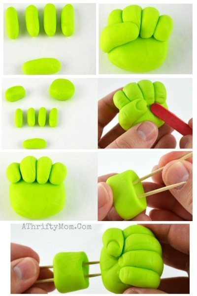 Hulk Smash Cupcakes, Easy Superhero Party ideas, Avengers party ideas, how to make a hulk fist