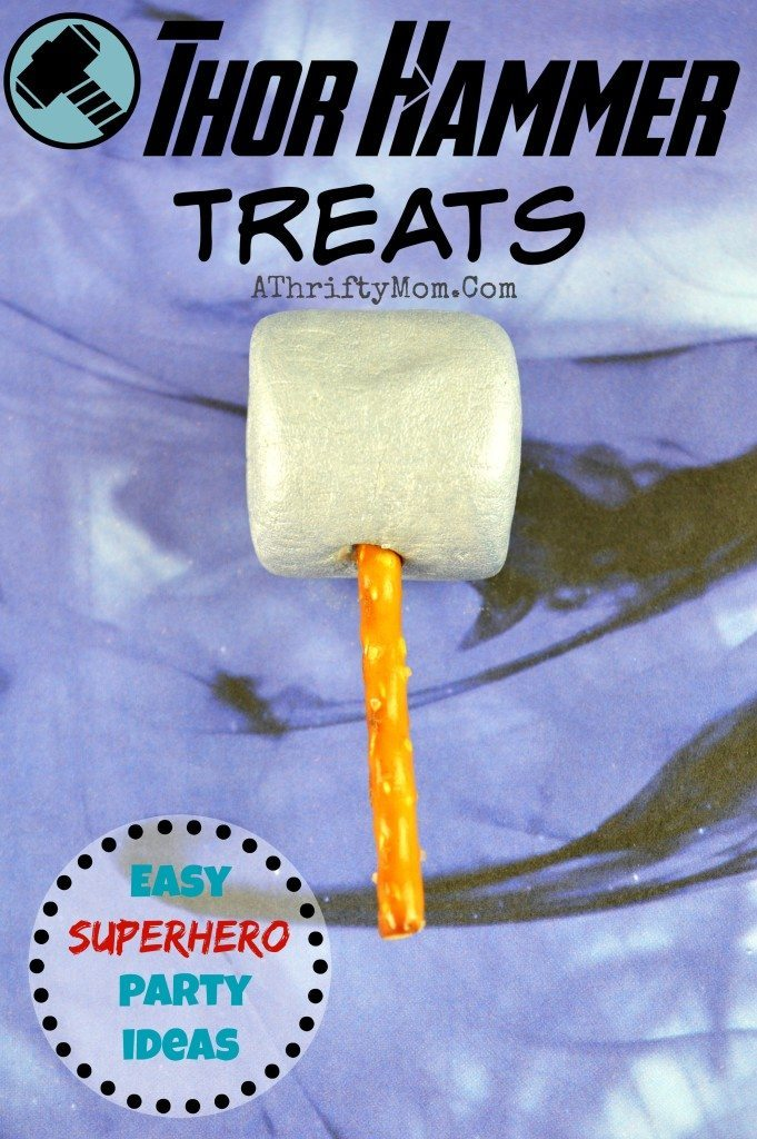 Thor Hammer pops, Super hero themed birthday party ideas, Easy dessert ideas for boys, avengers party ideas