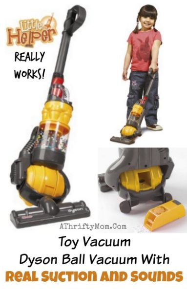Toy Vacuum- Dyson Ball Vacuum With Real Suction and Sounds, gift ideas for kids, my kids would LOVE THIS and I would love the clean floors