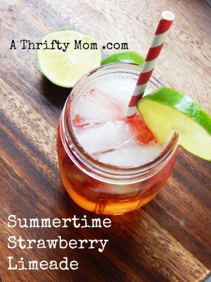 Strawberry Limeade Easy Summer drink