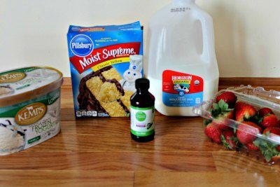 Strawberry Shortcake Milkshake Ingredients