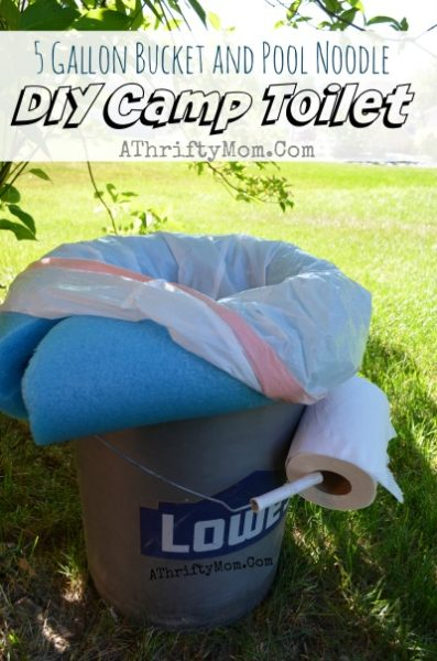 Camping Toilet Portable And Low Cost All You Need Is A 5 Gallon Bucket