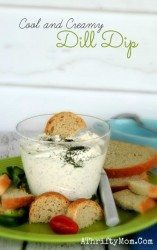 Dill Dip Recipe, Finger Food Party Ideas, Cool and Creamy Dill Dip perfect for family reunions, football parties, summer bbq's or just as a lunch snack