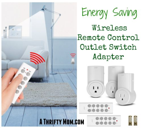 Energy Saving Wireless Remote Control Electrical Outlet Switch for Your Home - A Thrifty Mom