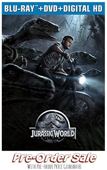Jurassic World Pre order sale with FREE shipping and lowest price guarantee on amazon, online deals,
