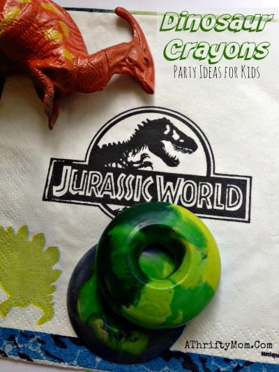 Jurassic World party ideas, dinosaur egg crayons, easy crafts for kids, popular party ideas
