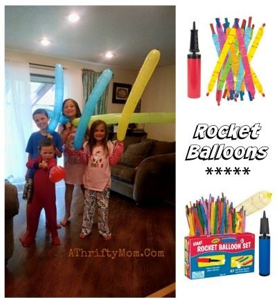 Rocket balloons with pump, easy summer games to keep the kids busy, fun games for kids