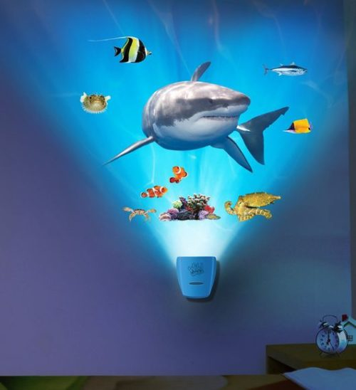 Shark light and sound room display, kids rooms. gift ideas