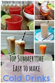 top summertime easy to make cold drink
