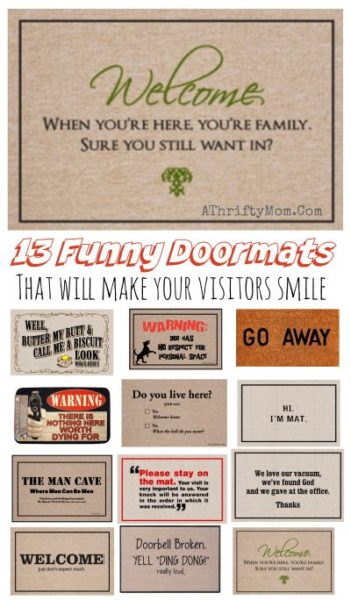 funny welcome mats silly doormat that will make youre guest smile make a great - Funny Gag Gifts For Christmas