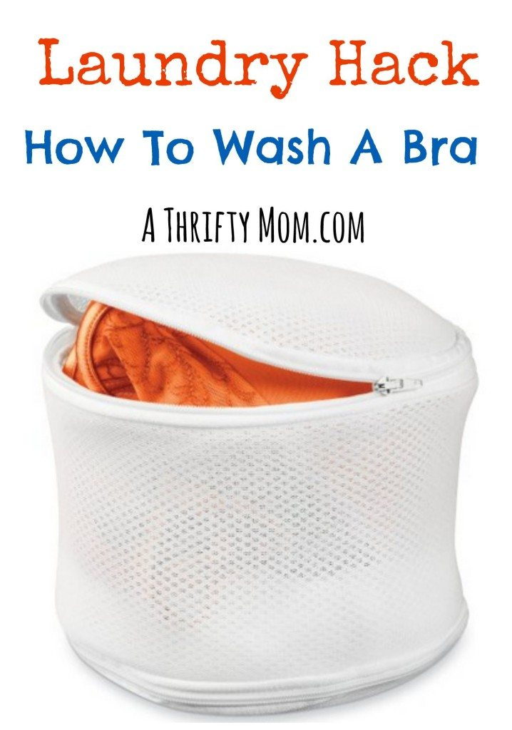 Laundry Hack - How to Wash a Bra - A Thrifty Mom