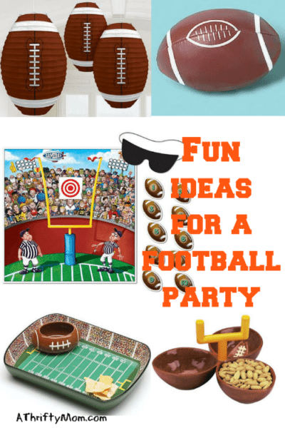 fun ideas for a football party, young and old, party ideas, football party, tailgate party, superbowl party, kids party, fun party ideas