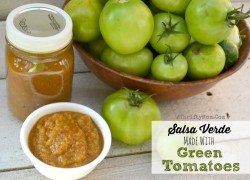 Green Tomato Salsa Verde, it is the EASIEST SALSA you will ever make! What to do with Green Tomatoes, Recipes for Green Tomatoes, Canning or Canned recipe