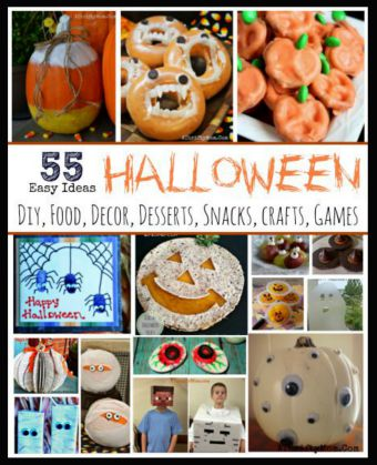 Halloween ideas made EASY, Halloween crafts recipes decor and more all SUPER EASY, SImple Halloween party ideas, Healthy Halloween recipes, side