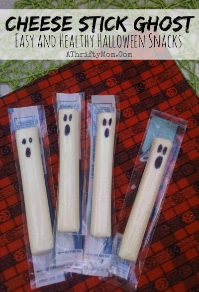 Easy Halloween treats for kids, Cheese Stick Ghost, Halloween party food and easy recipes,