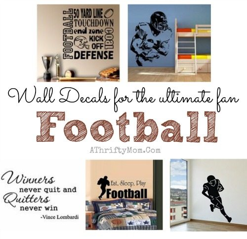 Football room ideas, easy gift ideas for boys who LOVE football, teen boy bedroom ideas or for the perfect MAN CAVE, sports fan gift ideas
