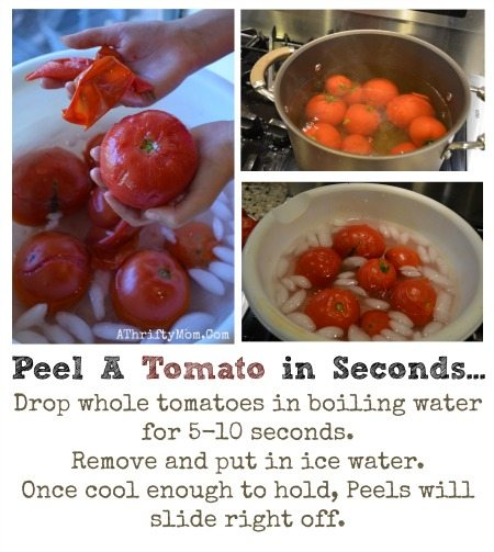 How to peel a tomato in seconds, Fastest and easiest way to peel a tomato, perfect for canning or making salsa, Popular Kitchen hacks you will want to remember