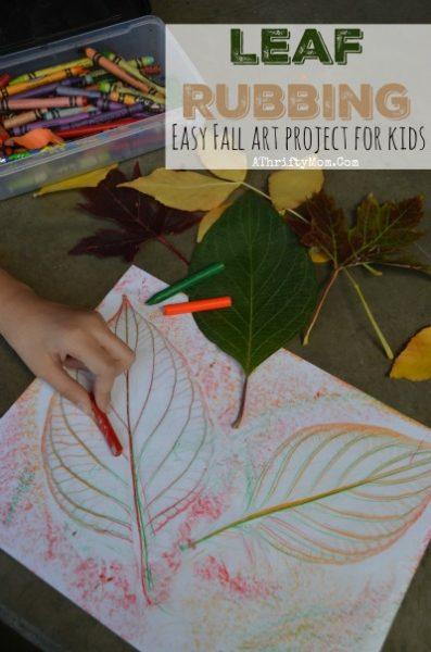 Fall craft projects for kids, LEAF RUBBING perfect for school age children, girl scout or boy scout craft ideas that are both educational and low cost