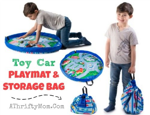 Toy Car Playmat and Storage Bag, gift ideas for little boys, easy storage solutions for toys