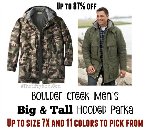 Winter coat clearance sale, Boulder Creek Men's Big & Tall Hooded Parka
