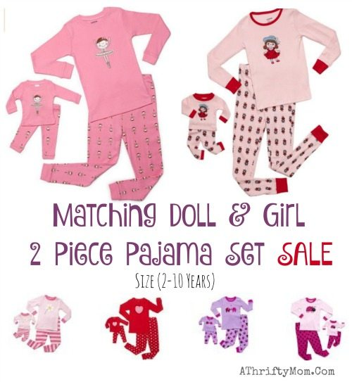 american girl doll matching pj set, girl gift ideas