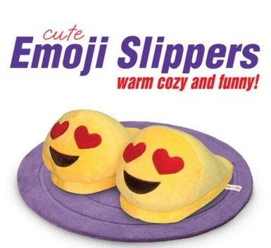 emoji slippers, teen gifts, slippers, gift ideas