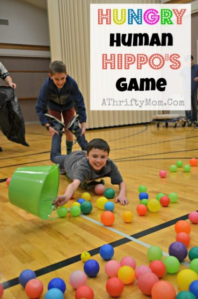 Hungry Human Hippo Game, perfect for family reunions, youth groups or lds mutual, group games, party game ideas