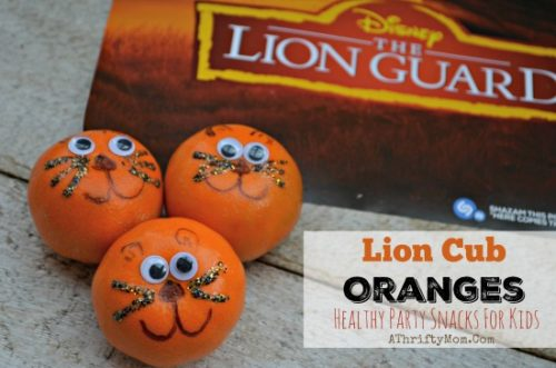 Lion Snacks for kids birthday partry, fun healthy treats for kids preschool age and up, Lion Guard themed party ideas, Disneykids