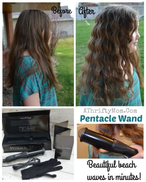 NuMe Styling wand tools, the PENTACLE is amazing easy beach waves in minutes, Long hair style ideas, easy long hair styles