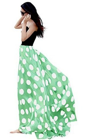 high waist polka dot maxi skirt, fashion. spring, skirt, style for women