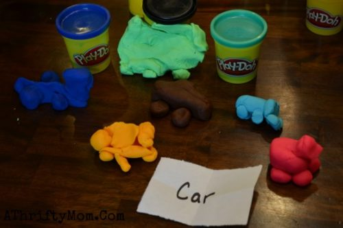 Play Doh Party ideas, Make It Shape it game, easy games to play with playdoh, Birthday party games for kids, low cost group activities, family reunion ideas