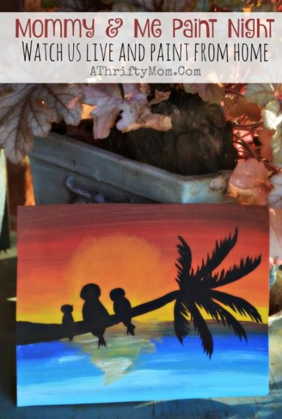 Easy paintings on canvas, Ocean sunset easy art projects for kids join our FREE class and you can paint with us, Mommy and Me paint night, popular paint projects for kids