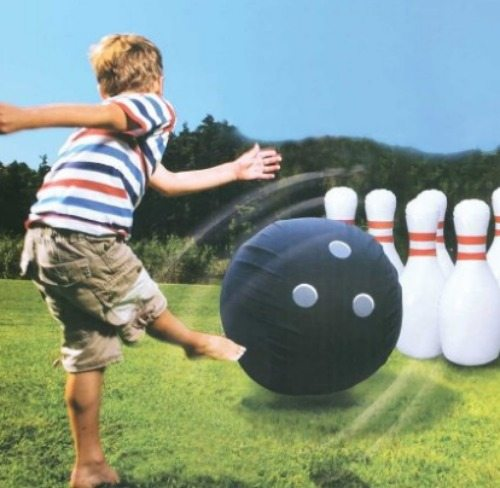 bowling, outside games, outdoors, toys, kids, summer fun