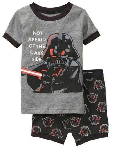 not afraid of the dark side pajamas, kids pajamas, kids clothes, pjs, amazon deals, summer clothing